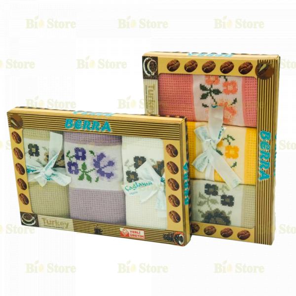 BERRA TEA TOWELS 3 PCS